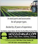 In stock parts and accessories for all sprayer types.