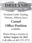 Casual Office Position available