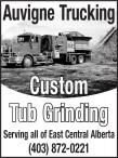 Auvigne Trucking  Custom Tub Grinding
