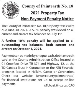 2021 Property Tax Non-payment Penalty Notice