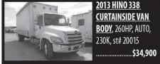 2013 Hino 338 Curtainside Van Body