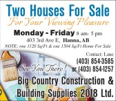 Two Houses For Sale For Your Viewing Pleasure