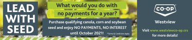 Purchase qualifying canola, corn and soybean seed and enjoy NO PAYMENTS, NO INTEREST
