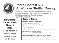 Photo Contest 2018 'At Work in Stettler County'