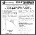 NOTICE OF PUBLIC HEARING LAND USE ORDER AMENDMENT