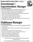 Bashaw Golf & Country Club is seeking a  Greenskeeper  Superintendent Manager