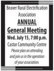 Beaver Rural Electrification Association ANNUAL General Meeting