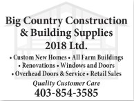 Big Country Construction & Building Supplies 2018 Ltd.