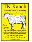 TK Ranch Custom Meat Processing Now Open