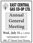 EAST CENTRAL GAS  Annual General Meeting