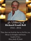 In memory of Richard Frank Bell