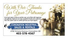 CORONATION INDUSTRIAL SALES Thanks You for Your Patronage