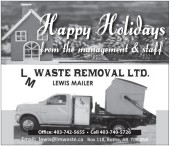 Happy Holidays from the management & staff
