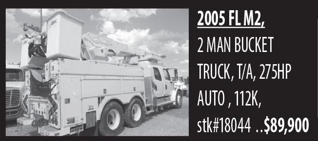 2005 Fl M2, 2 Man Bucket Truck