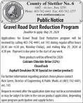 Gravel Road Dust Reduction Program