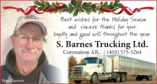 Best Wishes for the Holiday Season from S. Barnes Trucking