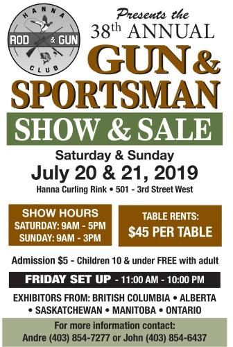 HANNA ROD & GUN CLUB Presents the 38th ANNUAL GUN & SPORTSMAN SHOW & SALE