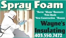 Wayne's Insulating Spray Foam