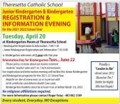 Kindergarten REGISTRATION & INFORMATION EVENING