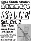 Hanna Hospital Auxiliary Rummage SALE