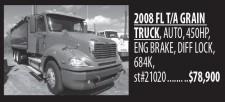 2008 FL T/A GRAIN TRUCK