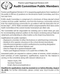 2 positions on the divisions' Audit Committee Available