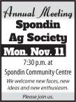 Spondin Ag Society Annual Meeting