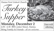Hanna First United Church Turkey Supper