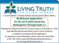 We Welcome Applications For the 2019-2020 School Year Kindergarten Through Grade 12.