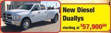 New Diesel Duallys at Hanna Chrysler