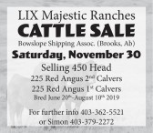 LIX Majestic Ranches Cattle Sale