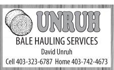 UNRUH BALE HAULING SERVICES