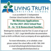 We Welcome Applications at Living Truth Christian School