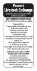 Full-Time And Part-Time Positions Available with Provost Livestock Exchange