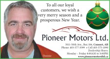 To all our loyal customers from Pioneer Motors we wish a very merry season and a prosperous New Year.