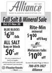 SEED CLEANING ASSOCIATION Fall Salt & Mineral Sale
