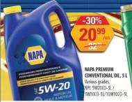 NAPA PREMIUM CONVENTIONAL OIL, 5 L