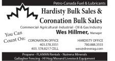 Hardisty Bulk Sales & Coronation Bulk Sales