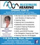 Maximum Hearing Opening June 4!!
