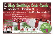 It's time for Shop Stettler's Cash Cards