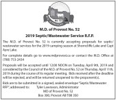 2019 Septic/Wastewater Service R.F.P.