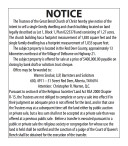 Notice of the intent to sell a single family dwelling and church building