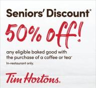 Seniors' Discount at Tim Horton's