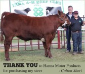 THANK YOU to Hanna Motor Products