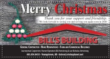 Thank you for your support and friendship from Bill's Building