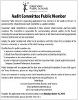 Audit Committee Public Member Wanted