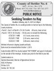 Seeking Tenders to Hay