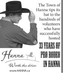 The Town of Hanna tips its hat to the hundreds of volunteers