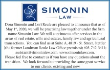 Dora Simonin and Lori Reule working together at Simonin Law