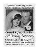 Conrad & Judy Scoville's 50th Wedding Anniversary
